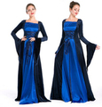 free shipping Medieval retro royal garments of British noble Queen Princess cosplpay Halloween  costumes
