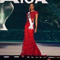 Miss Universe Lace Evening Dresses With Beaded Crystals Appliques Long Elegant Evening Dress Backless Vestido De Festa Longo