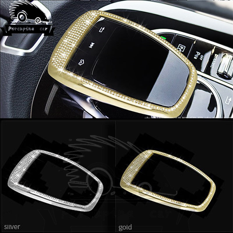 Car Mouse Control Touchpad Frame Cover Decoration Car Sticker-styling For Mercedes W213 GLC C Class E W205 C200 E200 car accessories amg exhaust cover outputs pipe tail frame trim for mercedes benz glc a b e c class w205 coupe w213 w176 w246