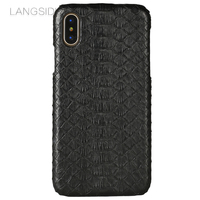 LANGSIDI Mobile Phone Shell For IPhone 8 Mobile Phone Case Advanced Custom Natural Python Skin Leather