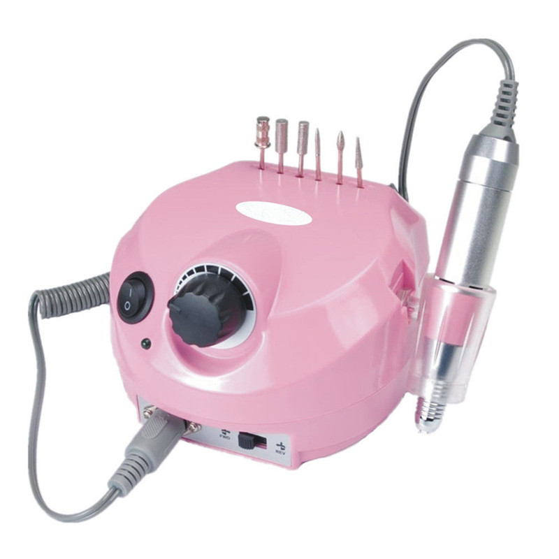 Newest 35000RPM Large Electric Manicure Drill Machine for Pedicure Sander Nails Tools Milling Cutter Set Nail Art Drill bits