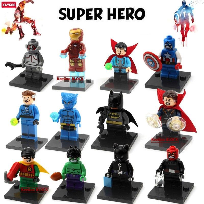 Kaygoo Super Heroes Action Building Blocks Figure Mini Dolls Civil War X-Men Hulk Deadpool Iron Man Starlord Robin Block Toys