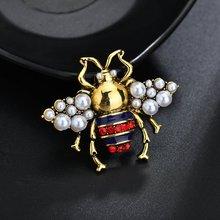 Terreau Кэти Винтаж горный хрусталь броши для женщин Мода насекомых антикварная брошь-заколка золото цвет высокое качество подарок на Новый год