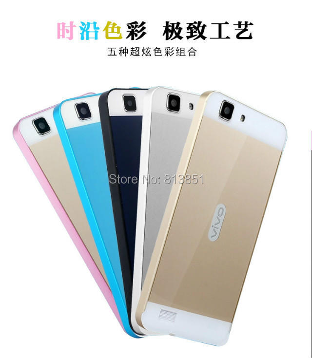 on sale ea34b b5d95 1PCS/LOT For vivo Y27/Y27L Aluminium Bumper Metal Frame+Back Cover Case For  BBK vivov Y27/Y27L Phone 5 color Free Shipping