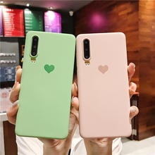 Liquid Silicone Soft TPU Case For Huawei P20 Pro Honor 8X V20 Love heart Cover P30 Lite Mate 20 Nova 3 3i 4