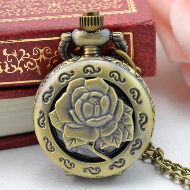 #5001 Nostalgic Punk Style Pocket Watch  Vintage Steampunk Retro Bronze Design Pocket Watch Quartz Pendant Necklace Gift 1