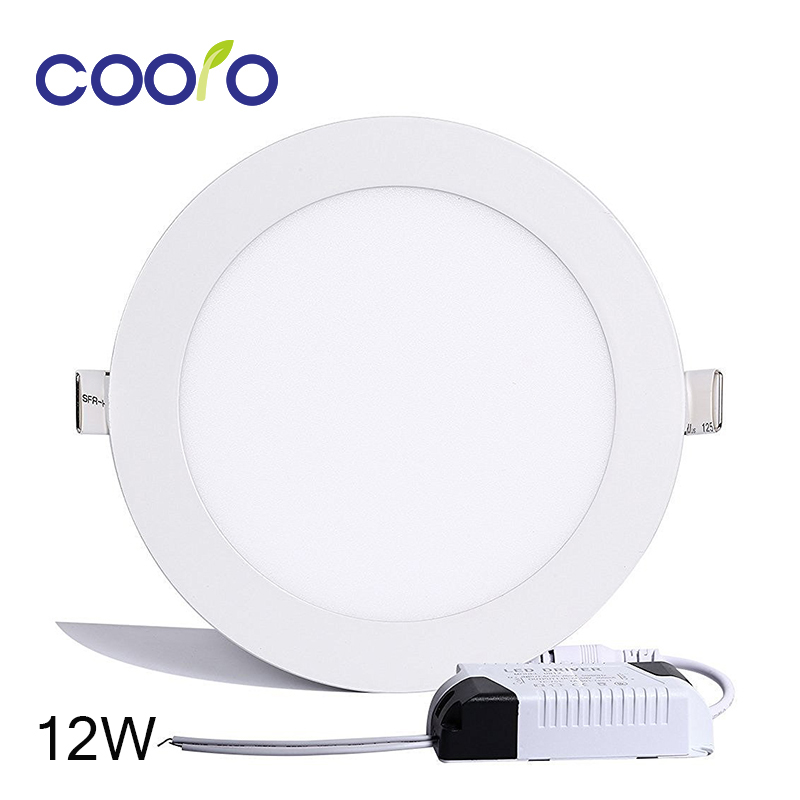 AC 85-265V LED Panel Light 12W LED ceiling Light Round Ultra thin LED downlight,indoor lighting,free shipping