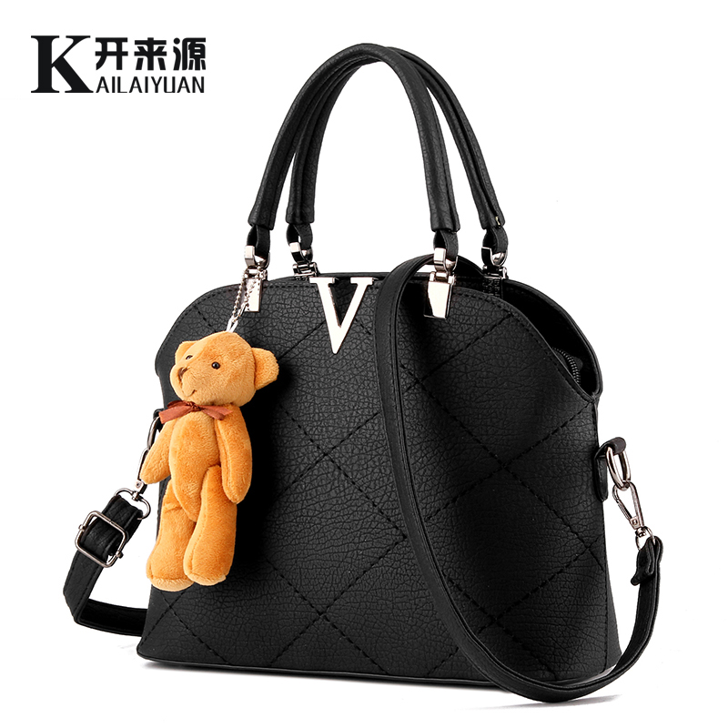SNBS 100% Genuine leather Women handbags 2018 New female bag sweet lady fashion handbag shoulder bag Messenger female bear недорго, оригинальная цена