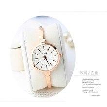 Nueva Pulsera Relojes de Mujer de Marca de Lujo de Acero Inoxidable Relojes de Pulsera Único Para Las Señoras Vestido de Cuarzo Reloj de Mujer GD2972