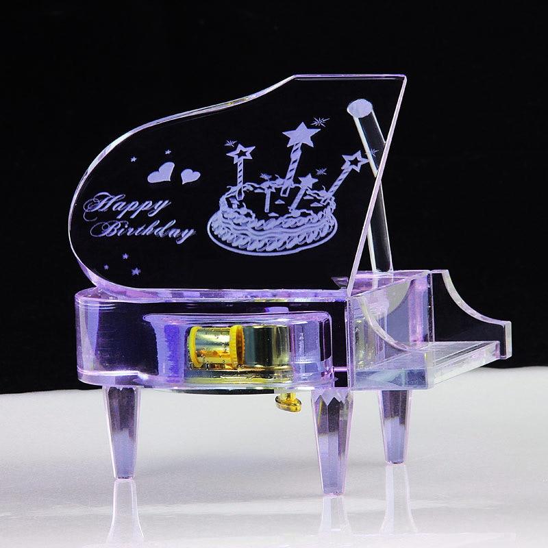 Crystal Piano Music Box For Girlfriend Women Beautiful