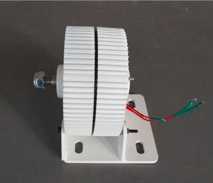 Générateur ac à aimant Permanent sans brosse 12 V 24 V 48 V 300 W avec Base, 600 tr/min et faible couple de démarrage PMG - 2