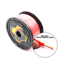 PUZU 8GA Car Audio stereo amplifier Power line cable OFC pure copper high power