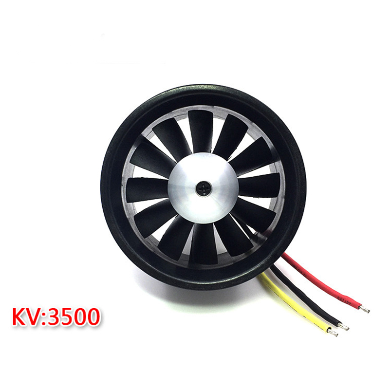 QX-MOTOR Brushless Motor 64mm EDF with 12 Blades Ducted Fan Jet QF2822 3500KV/ 4300KV 3S/4S Motor For RC Airplane F22131/2 маркер флуоресцентный centropen 8722 1о оранжевый 8722 1о