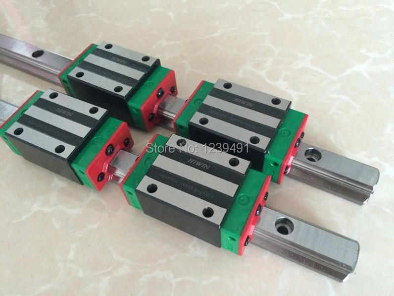 6pcs HIWIN linear guide HGR25 - 500/600/700mm  with 12pcs linear carriage HGH25CA CNC parts6pcs HIWIN linear guide HGR25 - 500/600/700mm  with 12pcs linear carriage HGH25CA CNC parts