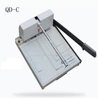 1 unid QD-C Heavy Duty guillotina A4 tamaño pila cortador de papel máquina de corte de papel, máquina de perforación diámetro 4mm/5mm/6mm