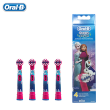 Frozen Replacement Kids Children Tooth Brush Heads For Oral B EB10-4 Electric Toothbrush Oral Care Brush Head 4 pcs