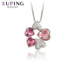 Biżuteria Xuping luksusowy wisiorek w kształcie serca z Charms style kryształy dla kobiet walentynki prezenty M29--30027