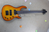 Free shipping !! 2015 New Arrival High Quality MODULUS 5 Strings Active Pickups Bass Guitar Orange Water Ripple In Stock  150717