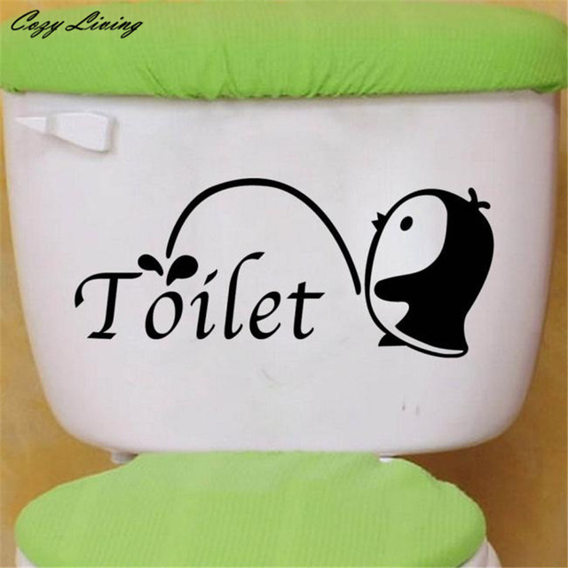 Penguin Toilet Sticker 3