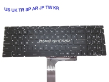 Laptop Keyboard For MSI PE60 Series 6QD 2QE-044XCN 6QE-238XCN 6QE-491XCN 6QE-062US 7RD-496XTH Japan JP Arabia AR Turkey TR