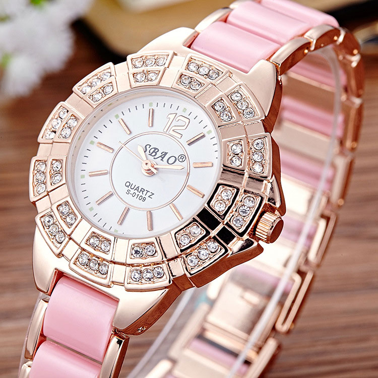 SBAO Quartz Watch Women Watches Ladies Top Luxury Brand Fanous Wrist Watch For Women Female Clock Montre Femme Relogio Feminino  ruimas original ladies watch top brand luxury quartz women watches reloj mujer montre femme for female relogio feminino