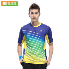 New sports series wicking breathable clothing badminton men's t-shirt table tennis clothes suit short sleeve shirt