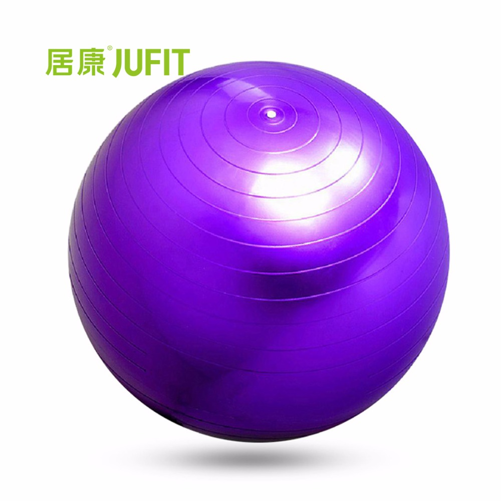 JUFIT PVC Fitness Ball,Thick Anti Burst Slim Shaping Body Balance Stability Training Yoga Exercise Ball with Foot Pump