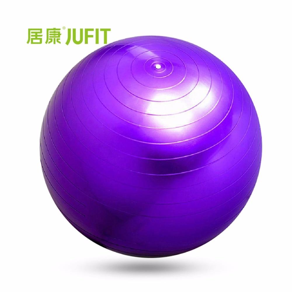 JUFIT PVC Fitness míč, tlustý proti roztržení štíhlé tvarování tělo rovnováhu stability školení cvičení styl jóga míč s nožní pumpa