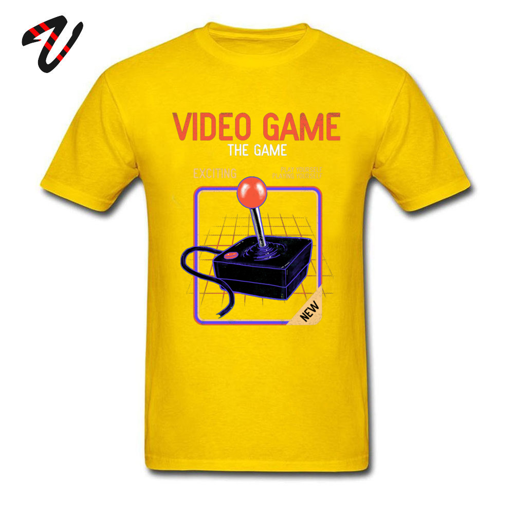 Fashionable Video Game _black T-Shirt for Men On Sale Thanksgiving Day Round Collar 100% Cotton Short Sleeve T-shirts Tee Shirts Video Game 21389 yellow