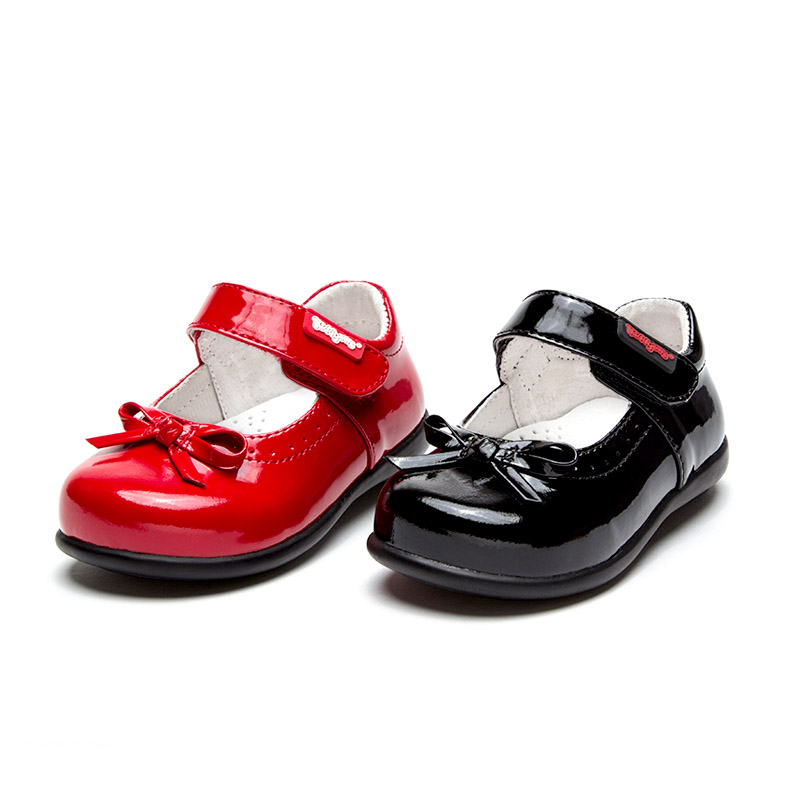 Toddler//Little Kid CieKen Girls Leather Bows Design Soft Round Toe Princess Dress Mary Jane Flat Shoes