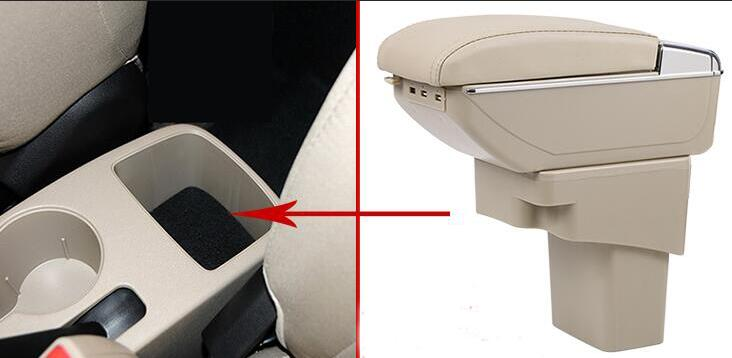 For Hyundai Solaris/Verna/Grand Avega armrest box central Store content box with cup holder ashtray car-styling accessory