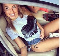 BKLD модные летние топы для девочек Сердце печати кисточкой футболки для женщин короткий рукав Футболка женская студенческие футболки подро...