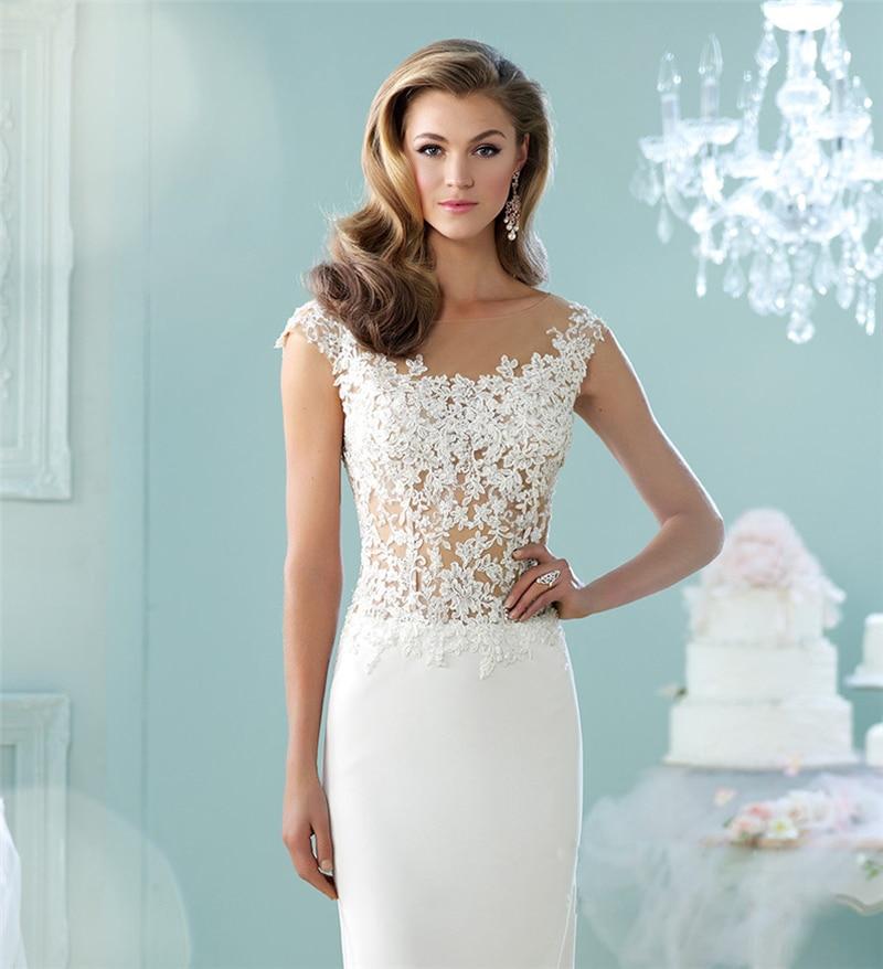 Brautkleid 2016 White Summer See Through Bridal Dresses Lace Boho ...