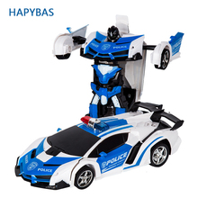 RC Car Transformation Robots Sports Vehicle Model Robots Toys Cool Deformation Car Kids Toys Gifts For