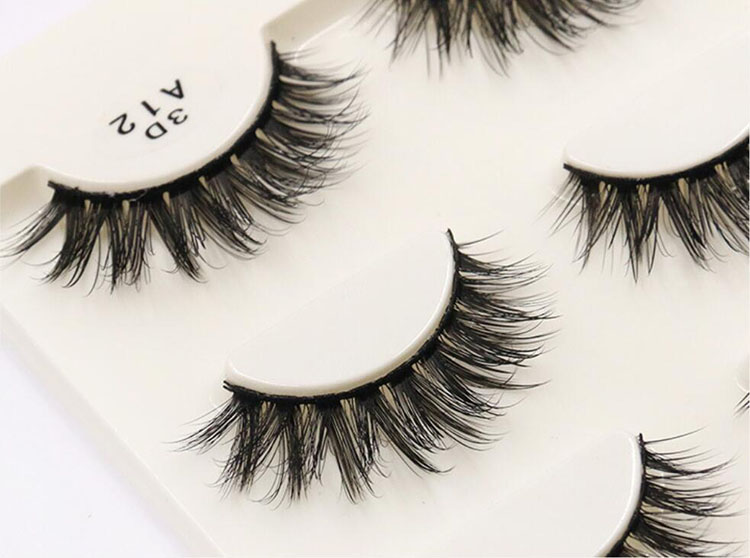 Wholesales 50 box 150 Pairs 3D Mink Hair Lashes Thick False Faux Eyelashes Natural Makeup Long Professional Eyelash Extension