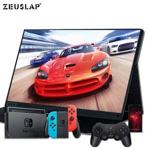 Image 1 - 15.6 cal monitor z ekranem dotykowym przenośny ultracienkich 1080P HDR IPS HD rodzaj usb C wyświetlający informacje o laptop telefon XBOX przełącznik i PS4