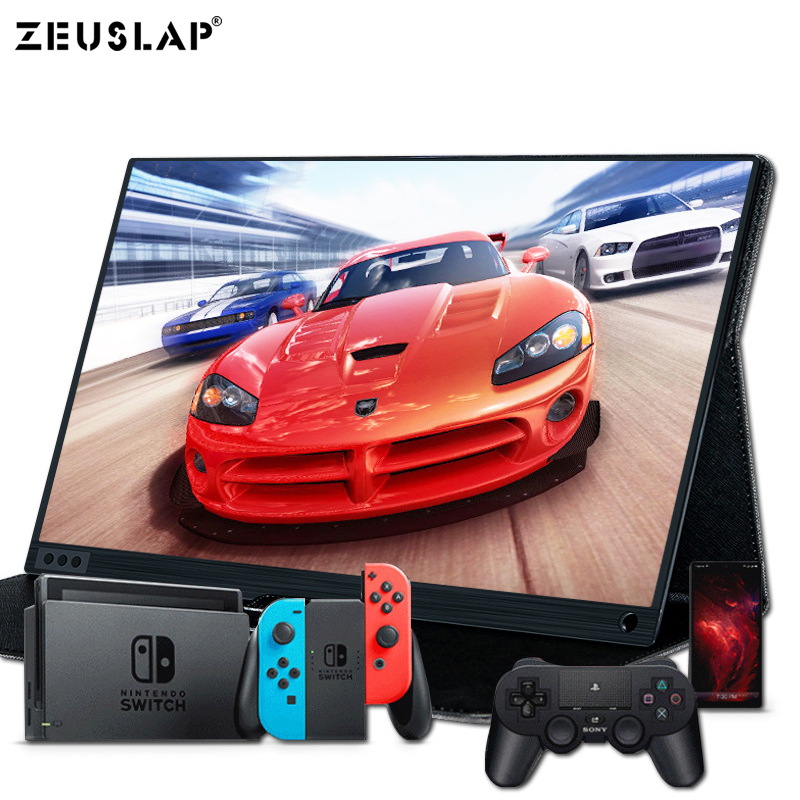 15.6 inch Touch Screen <font><b>Monitor</b></font> <font><b>Portable</b></font> Ultrathin <font><b>1080P</b></font> HDR IPS HD USB Type C Dispaly for laptop phone XBOX Switch and PS4 image