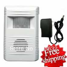 Free shipping Wireless visitor Customer door chime 8 Tune melodies Entry Alert Alarm DC12V