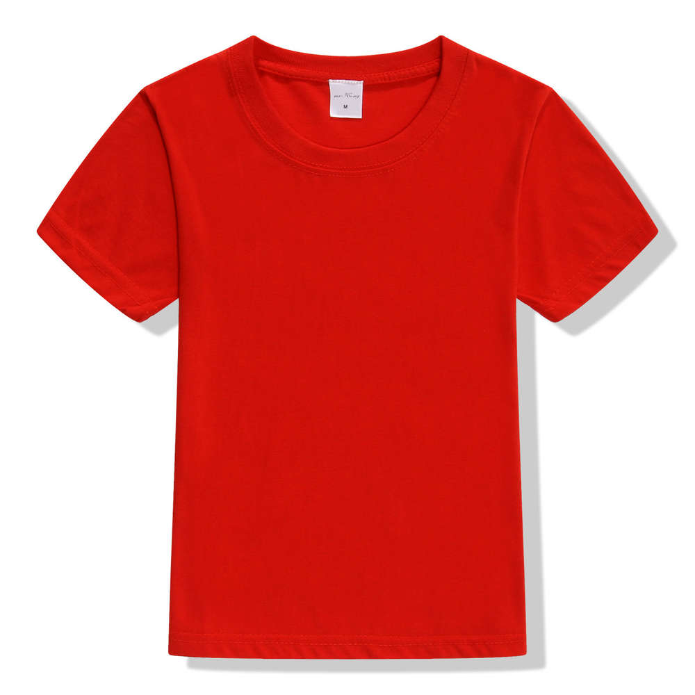 2017 Summer Top quality boys girls plain red t shirt for kids toddler big boy clothing children cotton soft children t shirt hurley big boys staple t shirt