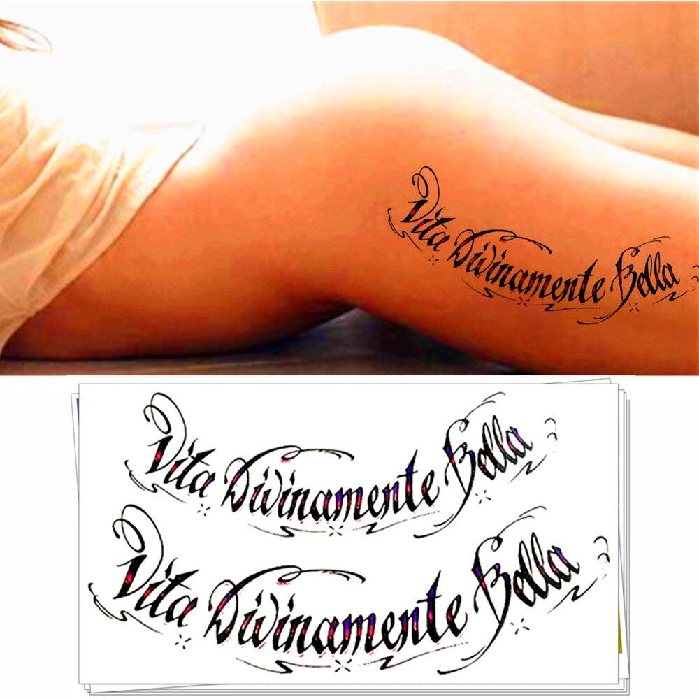 M-teoría Tatuaje Temporal Body Art, divinamente Hermosa Vida, Flash Tatuajes de