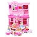 Rosa cerdo cerdo juguetes family house play juguetes pvc acción Birthdy Prtend figuras Juguetes Educativos Regalos De Navidad Para Los Niños niñas