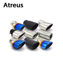 Atreus Car Exhaust Muffler Tip pipe suit For Toyota Nissan Ford Chevrolet Peugeot Fiat Suzuki Universal