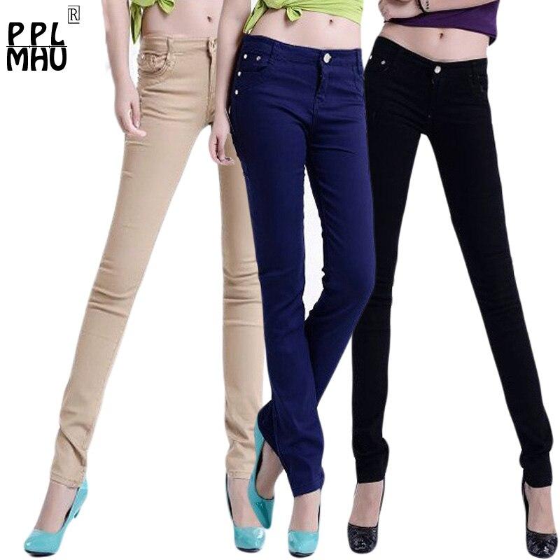 StreetFashion Sexy Low Rise Waist Mom Jeans Casual Boyfriend Jeans Slim Waist Elastic Denim Pants Colored Skinny Jeans Plus Size