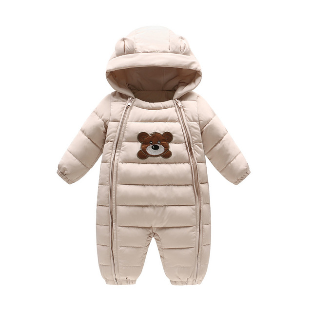 633d94a9259 Baby Winter Rompers Thick Boys Girls Warm Infant Bear Snowsuit Kid Jumpsuit  Children Outerwear Baby Wear 6 months-18 months
