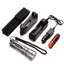 YAGE 318C CREE Zoomable 11.5cm Mini Led Flashlight Waterproof lanterna Rechargable Torch with1*18650 Battery +car charger