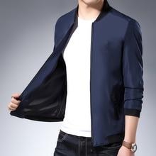 2019 New Men's Jacket Jacket Polyester Cotton Long Sleeve Jacket Clasp Chain Baseball Collar Jacket for Men Size M-3XL цены