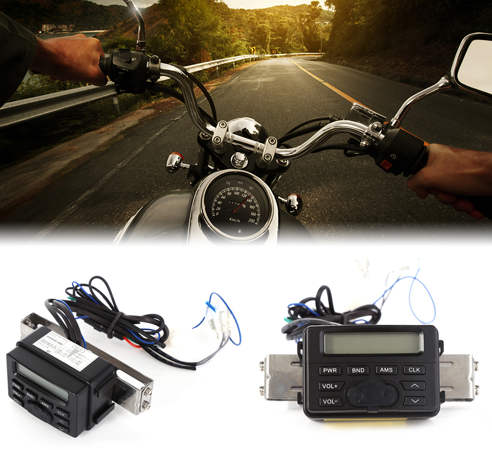 Mt723 Motorcycle Audio System Mp3 Player Speaker Fm Stereo Sound Wiring Features Tiny Handlebar Mounts Radio