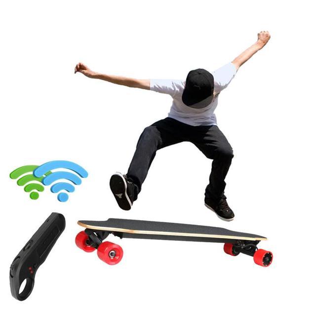Novo Dual-Drive de Controle Remoto de Quatro Rodas de Skate Skate Longboard Elétrica venda quente muito interessante