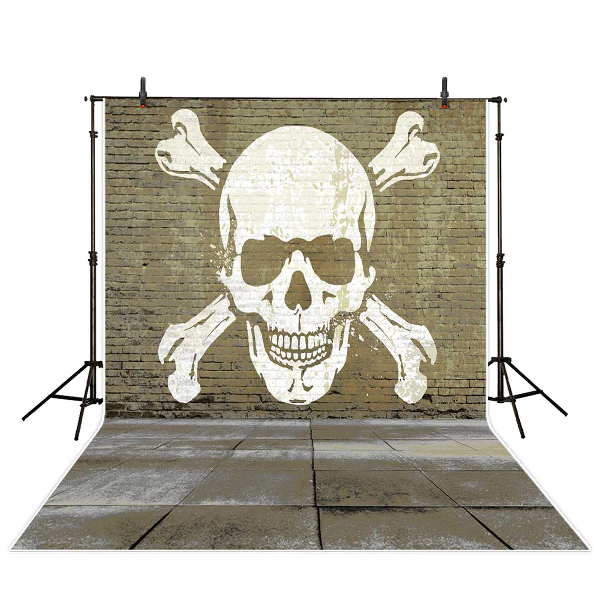 Allenjoy Brick Wall Skull Cool Graffiti Background For Photo Studio Background Photography In Background From Consumer Electronics
