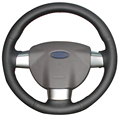 Black Artificial Leather Car Steering Wheel Cover for Ford Focus 2 2005-2011(3-Spoke)